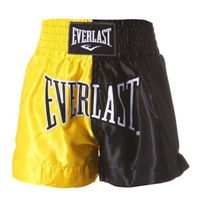Everlast Thai Boxing Shorts Nero-Giallo