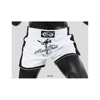 Fairtex BS1707 Muay Thai Shorts Bianco-Nero