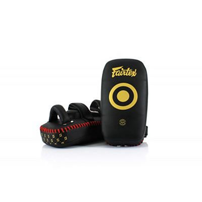 Fairtex Light Weight Thai Kick Pads KPLC5 Preto-Dourado