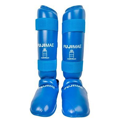 FUJIMAE Advantage Removable Shin Instep Guards Blue
