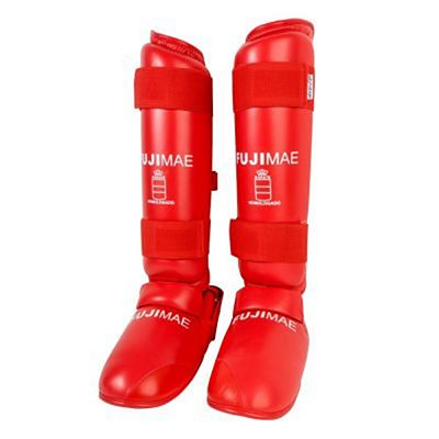 FUJIMAE Advantage Removable Shin Instep Guards Red