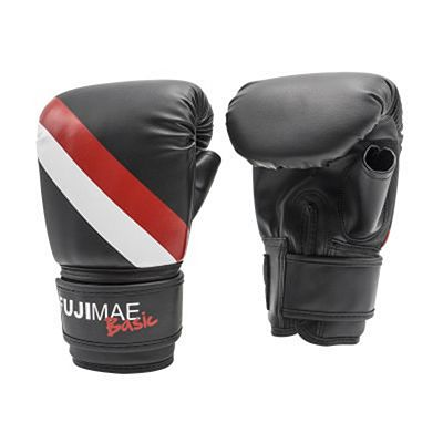FUJIMAE Basic Bag Gloves Black-White