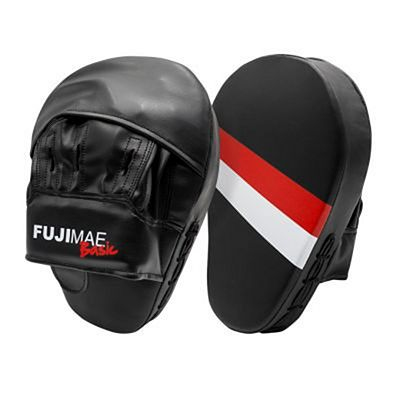 FUJIMAE Basic Focus Mitts Black-Red