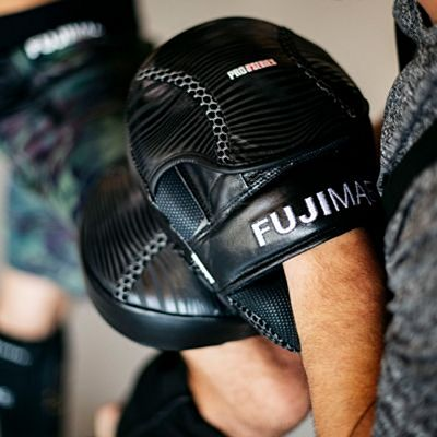 FUJIMAE ProSeries Leather Focus Mitts Fekete