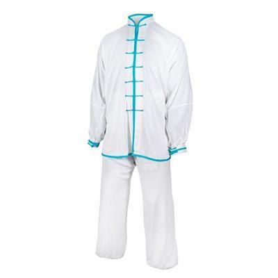 FUJIMAE Qïng Tai Chi Uniform Branco-Celeste