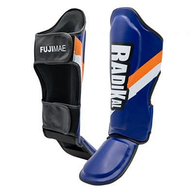 FUJIMAE Radikal Shin&Instep Guards Navy Blue-Orange