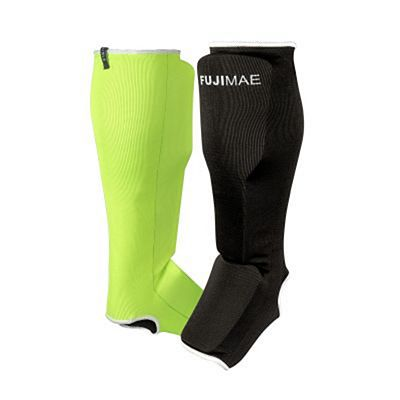 FUJIMAE Reversible Shin&Instep Guards 2.0 Black-Green