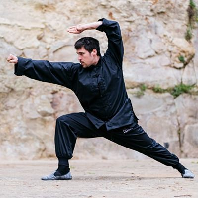 FUJIMAE Training Kung Fu Uniform Black