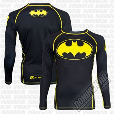 Fusion FG Batman Black Logo Rashguard Black