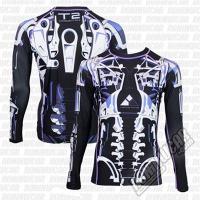 Fusion FG Terminator 2 Endoskeleton Rashguard Negro