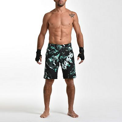 Gr1ps Miura 2.0 Fight Shorts Greenwood Nero-Verde