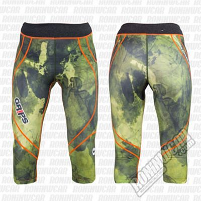 Gr1ps Woman Short Leggings Camo Verde