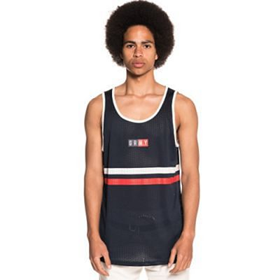 Grimey Ashe Mesh Tank Top Navy Blue