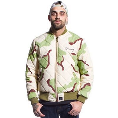 Grimey Double Face Reversible Bomber Brown-Camo