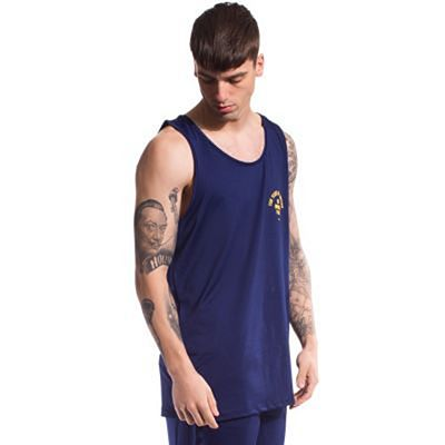 Grimey X Years Mesh Tank Top Navy Blue-Yellow