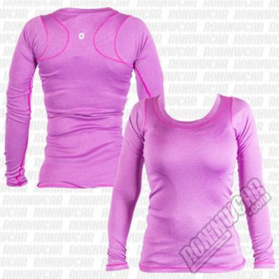 Grips Athletics Lady L/S Tee Morado