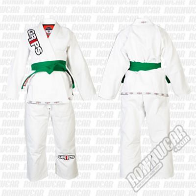 Grips Athletics Lil Secret Kids Kimono Bianco