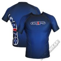 Grips Athletics Wasp Rashguard Honeycomb S/S Blau