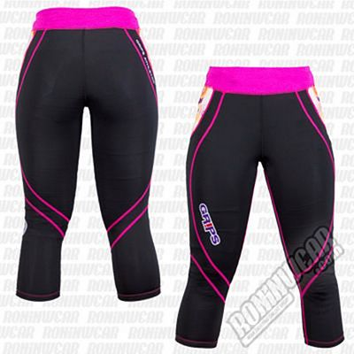 Grips Athletics Woman Leggings Power Flower Nero