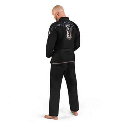 Hayabusa Goorudo 4 Gold Weave Jiu Jitsu Kimono Schwarz