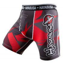 Hayabusa Metaru 47 Silver Compression Shorts Schwarz-Rot