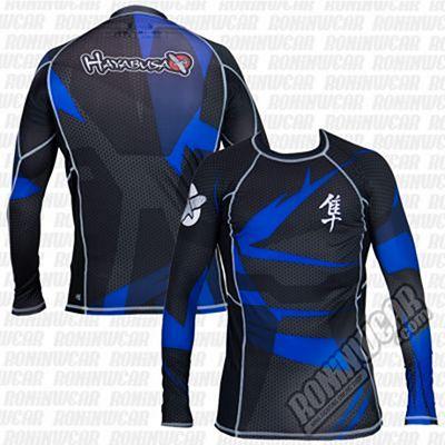 Hayabusa Metaru Rashguard L/S Negro-Azul