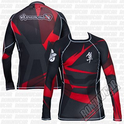 Hayabusa Metaru Rashguard L/S Black-Red