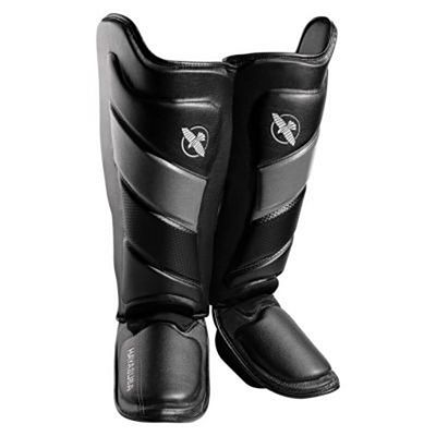 Hayabusa T3 Striking Shinguards Black-Grey