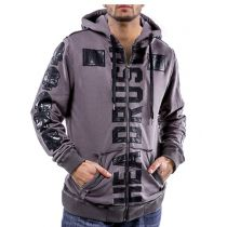 Headrush Fear None X13 Zip Hoodie Grau-Schwarz