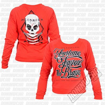 Headrush FFTB Striped Skull LS Tee Naranja