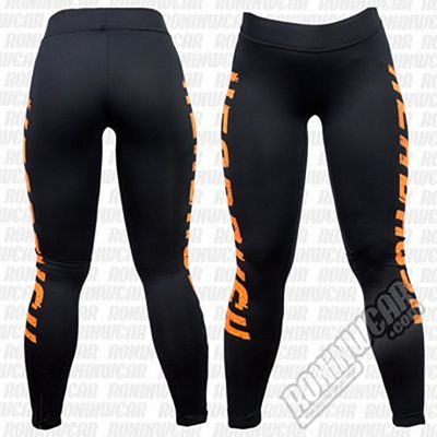 Headrush Full Fledge Fitness Leggings Negro-Naranja