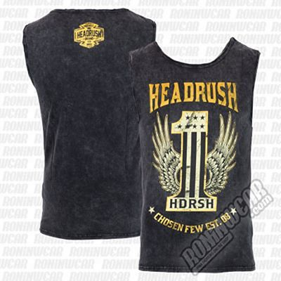 Headrush The One Tank Top Gris-Jaune
