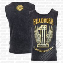 Headrush The One Tank Top Grau-Gelb