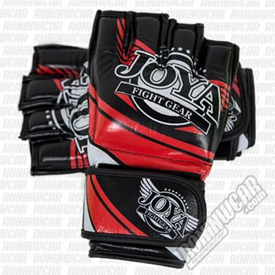 Joya Power Grip Fight Gloves Preto-Vermelho