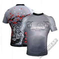 Kenka White Tiger Rashguard S/S Grigio