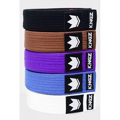 Kingz Gi Material Premium Belt Purple