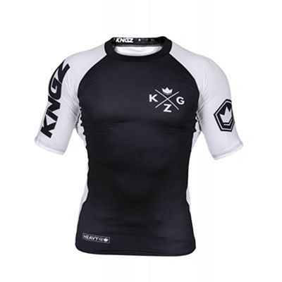 Kingz Ranked V3 S/S Rash Guard Black-White