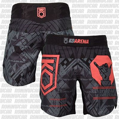 KOARENA Be Cool Fight Shorts Grey-Red