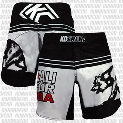 KOARENA Cali Bear Fight Shorts Preto-Branco