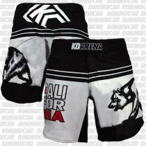 KO Arena Cali Bear Fight Shorts Negro-Blanco