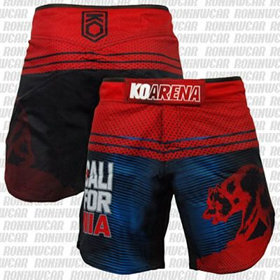 KOARENA Cali Bear Fight Shorts Rojo-Azul