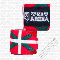 KO Arena Handwraps Flag Series Basque Country Rot-Grün