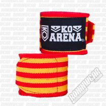 KO Arena Handwraps Red-Yellow