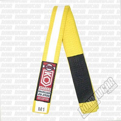 KOARENA Kids IBJJF Belt Yellow-White