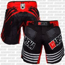 KO Arena Utopia Fight Shorts Negro-Rojo