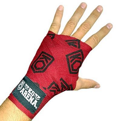 KOARENA Handwraps Logo Series Wine Red