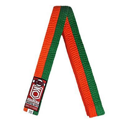 KOARENA Kids Martial Arts Belt Orange-Grön