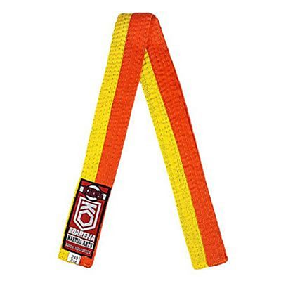 KOARENA Kids Martial Arts Belt Gul-Orange