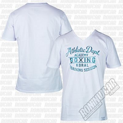 Koral Athletic Boxing T-shirt Bianco