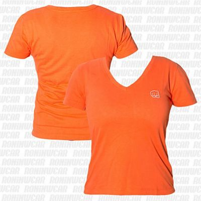 Koral Baby Look Punch T-shirt Orange